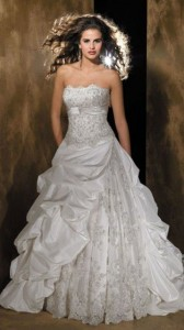 Color: Ivory/Cafe/Silver Size: 12 Price: $1,420.00 (originally) Discount Price: $710.00