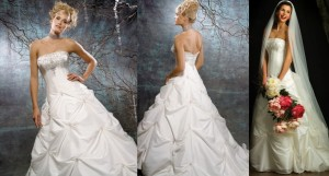 Color: Ivory Size: 12 Price: $1,080.00 (originally) Discount price: $540.00